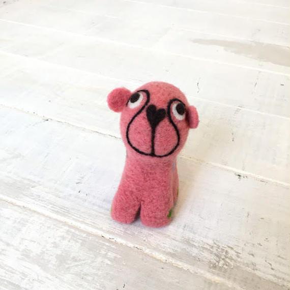 マトマイニのフェルトアニマルS~イヌ・ピンク~