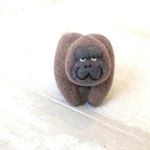 マトマイニのフェルトアニマルM~ゴリラ・ブラウン~
