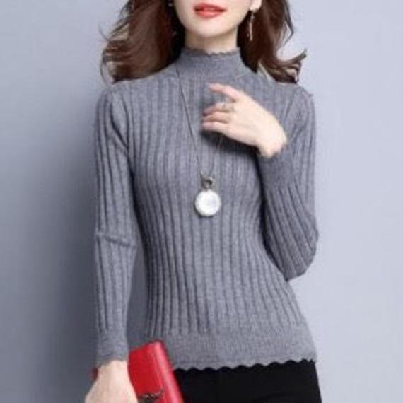 mockneck rib knit