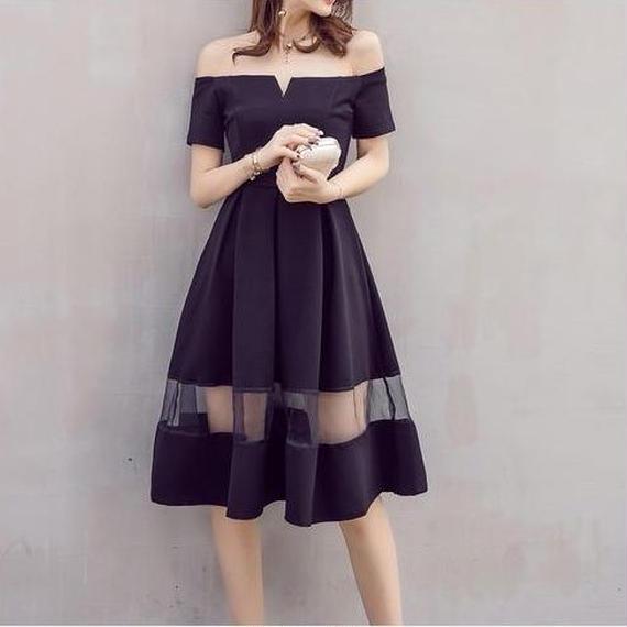 offshoulder tight dress