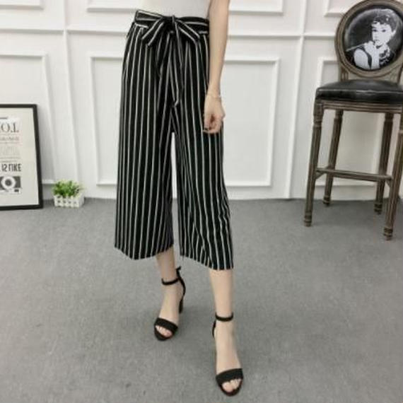 Stripes Gaucho pants