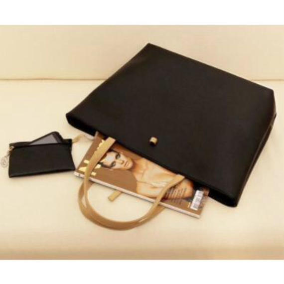 Fake leather Tote bag