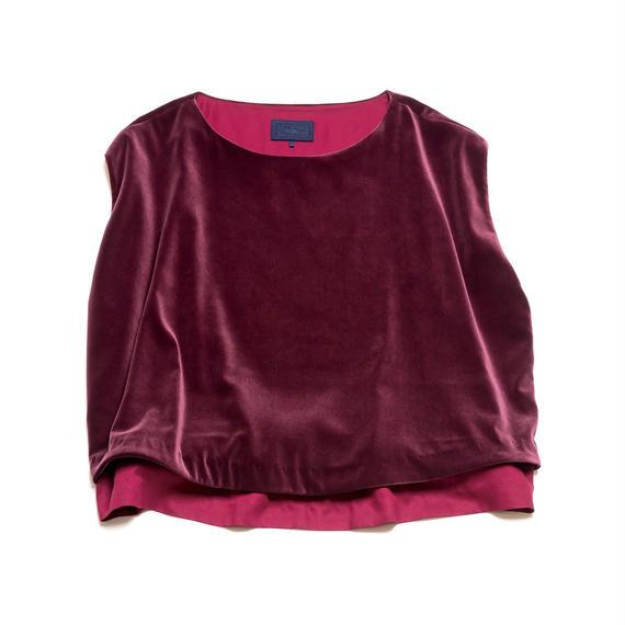 PA8AW-SH03 VELVET DOUBLE CLOTH BLOUSE