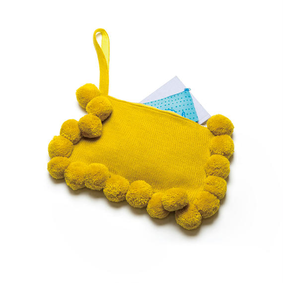 PA8AW-KT06 POM POM CLUTCH BAG