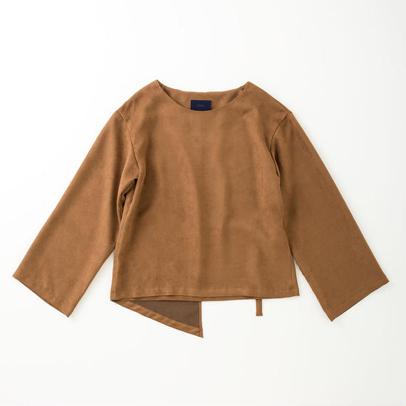 PA7AW-SH03 FAKE SUEDE BELT PULLOVER