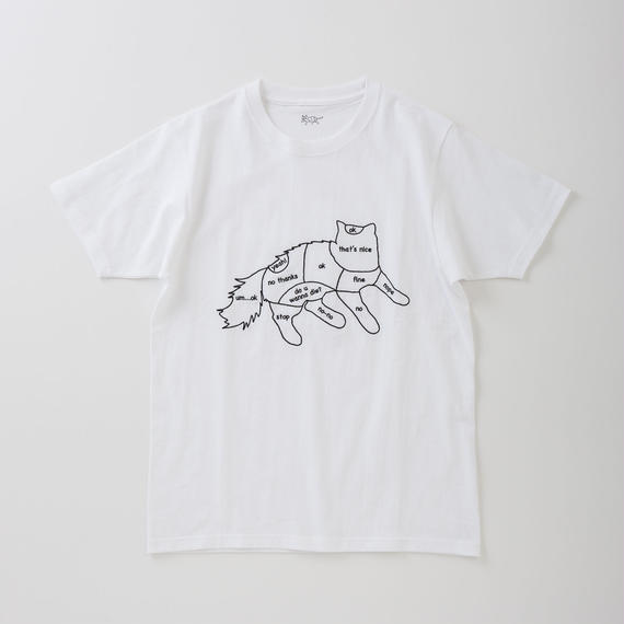 CA8AW-JE61 CAT CHART TEE