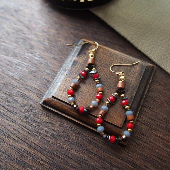 red grass beads