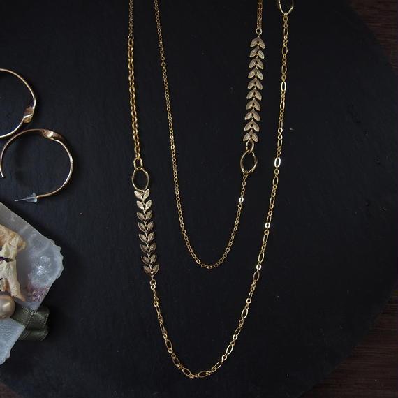 mix chain reaf neckrace