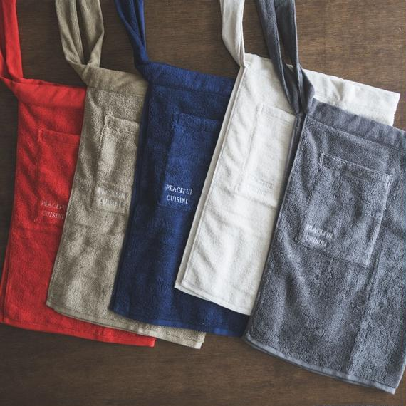 ※for japan※【Peaceful Cuisine × thing fabrics】Cotton pile Apron