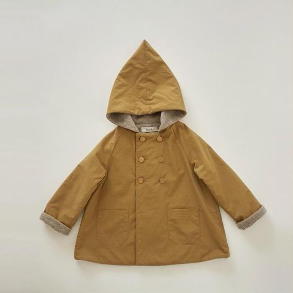 【 eLfinFolk 2018AW 】el-182F17 elf coat / camel / 90,100cm