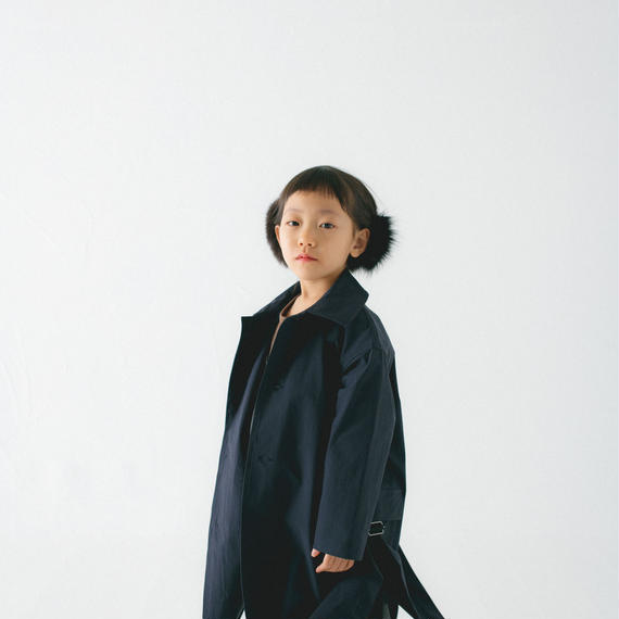 【 nunu forme 2018AW 】10-207-048 サイドリフトコート / Navy