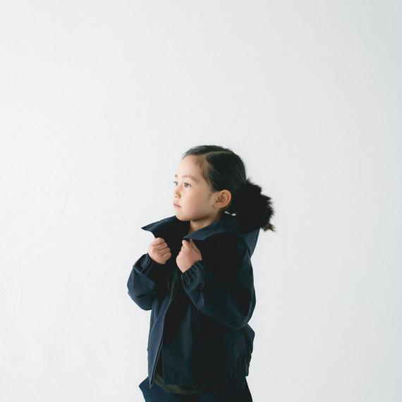 【 nunu forme 2018AW 】 10-103-053 グログランブルゾン / Navy