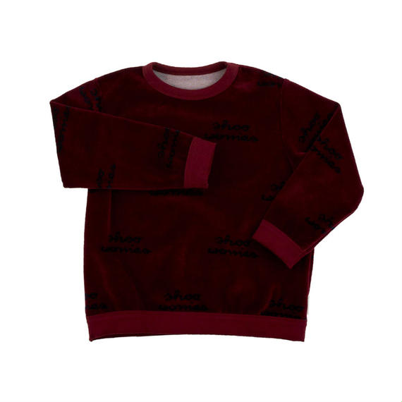 【tiny cottons 2017AW】AW17-133 shoo worries sweatshirt /  bordeaux / dark navy