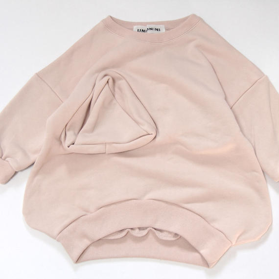 【 UNIONINI 2018AW 】 TR-020 ◯△sweat shirt  / pink / 10-12Y