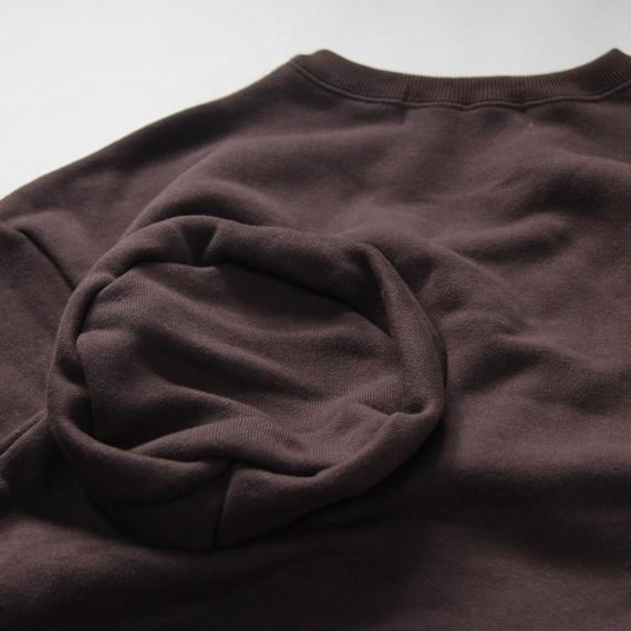 【 UNIONINI 2018AW 】 TR-020 ◯△sweat shirt  / brown / 10-12Y