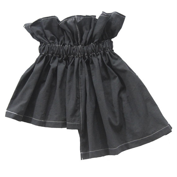 【 UNIONINI 18SS 】 asymmetry skirt / black  / 80〜140cm   (SK-002)