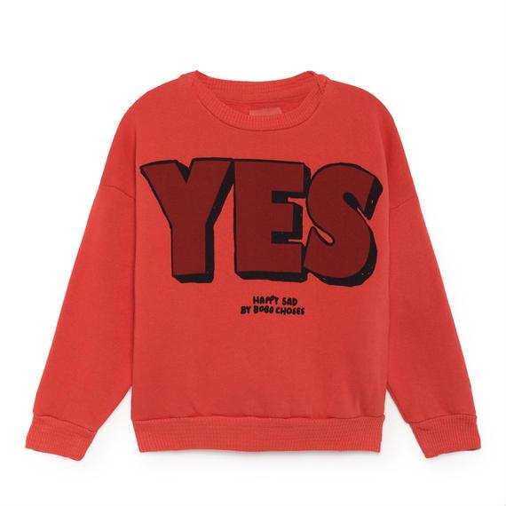 【 Bobo Choses 2018AW 】218039 Yes No Round Neck Sweatshirt