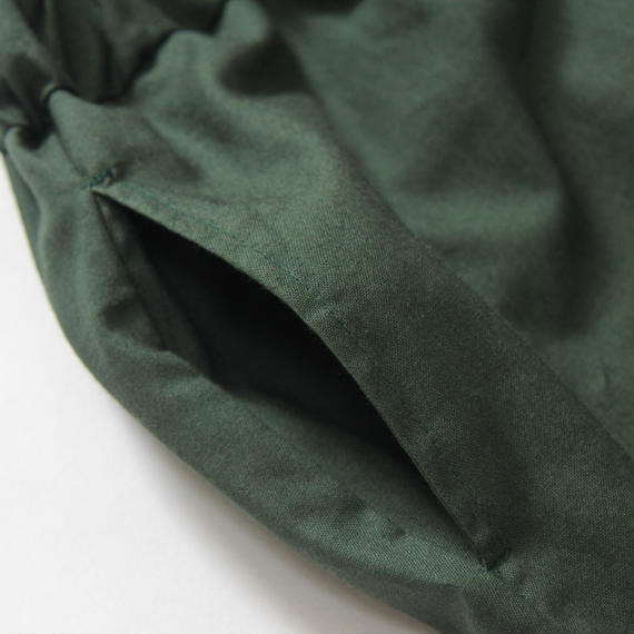 【 UNIONINI 2018AW 】 PT-059 layer pants  / green / Women M