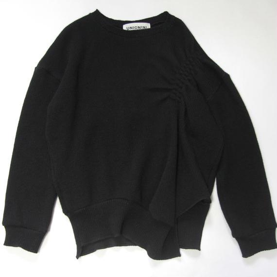 【 UNIONINI 2018AW 】 PO-018 rich knit pullover  / black / 10-12Y