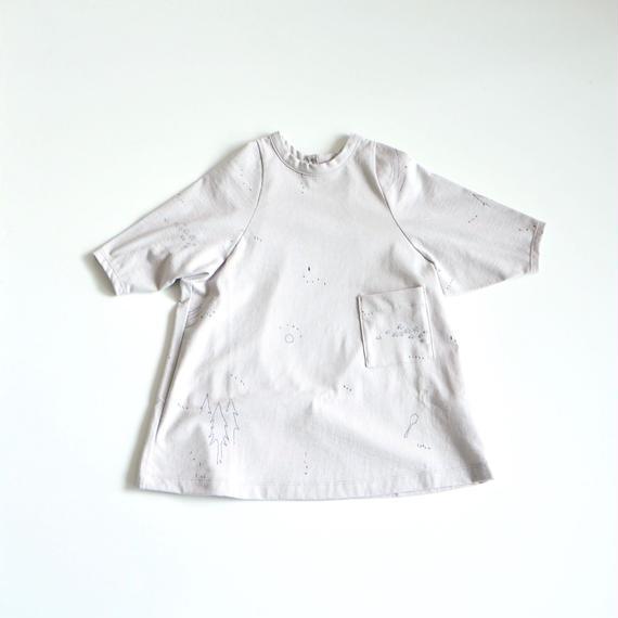 """【 ミナペルホネン 18AW 】WA8899P whisper """"ワンピース"""" / light gray / 80-100cm"""
