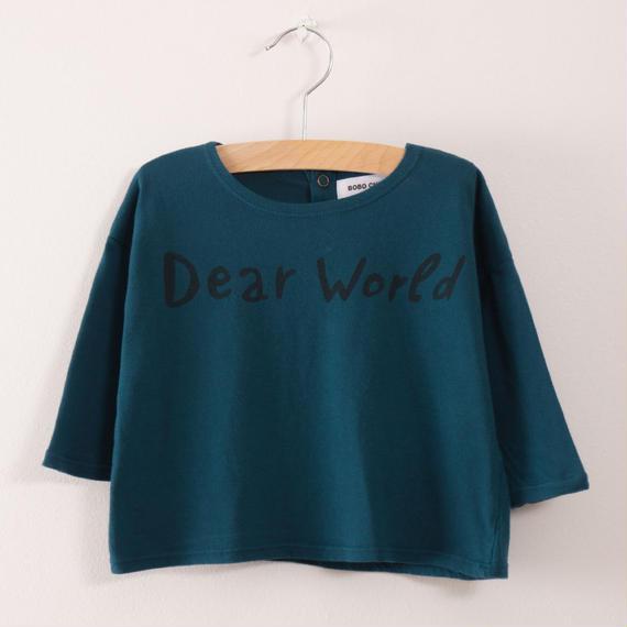 【 bobo Choses 2017AW】217281 Baby T-Shirt Dear World