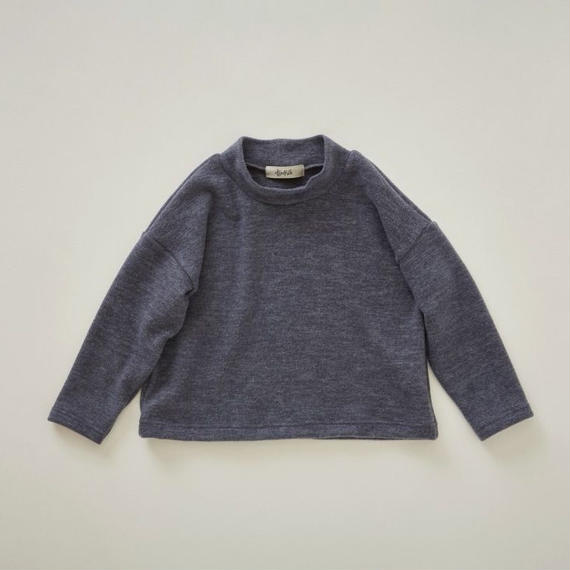 【予約商品】【 eLfinFolk 2018AW 】elf-182J28 melange highneck tops / gray / 110-130cm