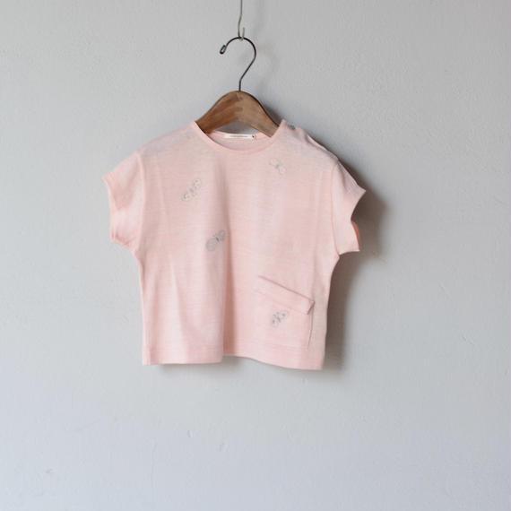 """【 ミナペルホネン 18SS 】 """"choucho """" Tシャツ / pink  / 110〜130cm   (WS8853P)"""