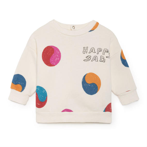 【 Bobo Choses 2018AW 】218184 Yin Yang Round Neck Sweatshirt