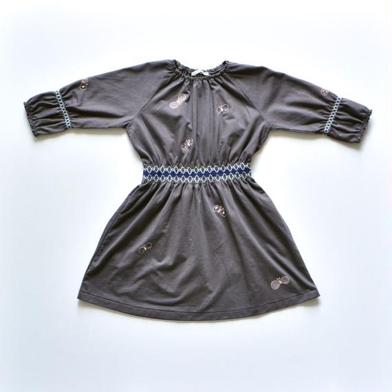 """【 ミナペルホネン 18AW 】WA8928P choucho """"ワンピース"""" / charcoal / 90,100cm"""