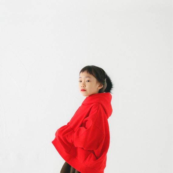【 nunu forme 2018AW 】10-947-503 ビッグパーカー / Red