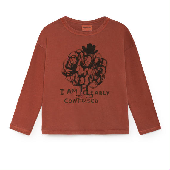 【 Bobo Choses 2018AW 】218005 Clearely Confused Round Neck T-Shirt