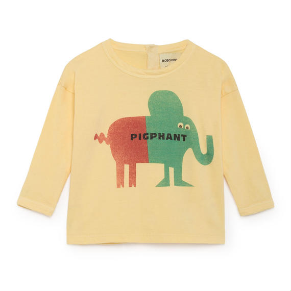 【 Bobo Choses 2018AW 】218162 Pigphant Round Neck T-Shirt