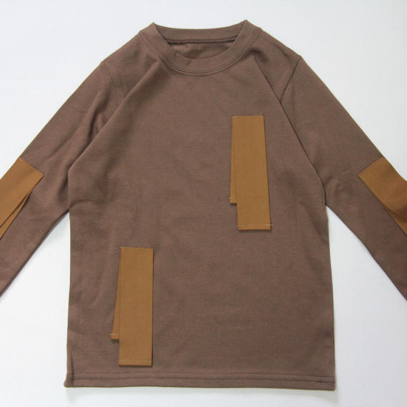 【 UNIONINI 2018AW 】 CS-038 untied ribbon long sleeve Tee / brown