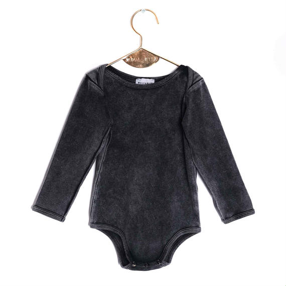 【 WOLF&RITA BABY 2018AW 】 ARTUR - Bodysuit LS / FADE OUT GREY / 6-12m