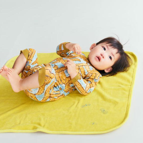 """【 ミナペルホネン 18AW 】WA8914P assemblage """"ロンパース"""" / mustard / 70cm"""