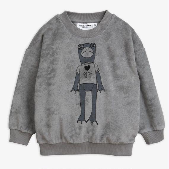 【 mini rodini 2018AW 】20172  Frog sp terry sweatshirt / grey