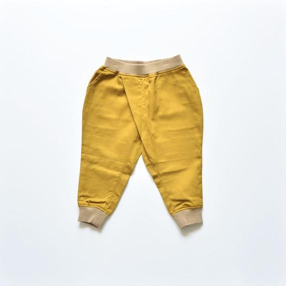 【 nunu forme 2018AW 】10-614-007 タックジョッパーズパンツ / Mustard
