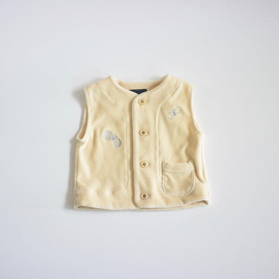 """【 ミナペルホネン 18AW 】WA8937P choucho """"ベスト"""" / light beige / 80cm"""