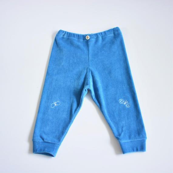 """【 ミナペルホネン 18AW 】WA8939P choucho """"パンツ"""" / blue / 80-100cm"""