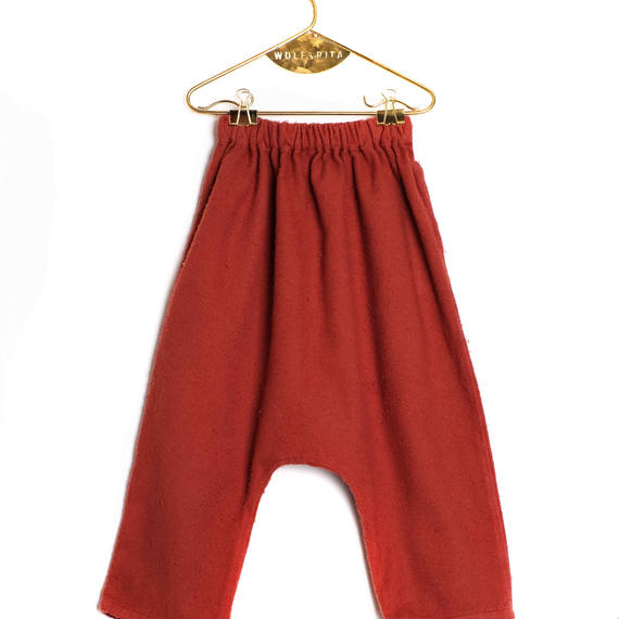 【 WOLF&RITA BABY 2018AW 】 NELSON - Baggy Trousers / BRICK
