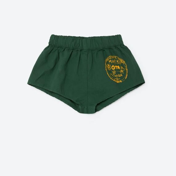 【THE ANIMALS OBSERVATORY 2017SS】CLAM SHORT PANTS / GREEN / 4Y - 8Y