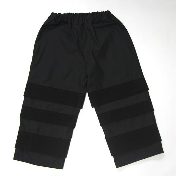 【 UNIONINI 2018AW 】 PT-059 layer pants  / black / Women M