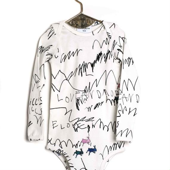 【 WOLF&RITA BABY 2018AW 】 ARTUR - Bodysuit LS / LOVE AND LOVE / 6-12m