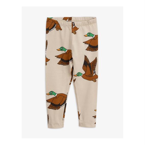 【 mini rodini 2018AW 】30129  Ducks aop leggings / beige