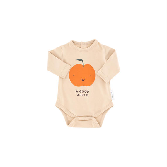 【 tiny cottons 2018AW 】 AW18-064 a good apple graphic ls body / nude/red / 6-12m