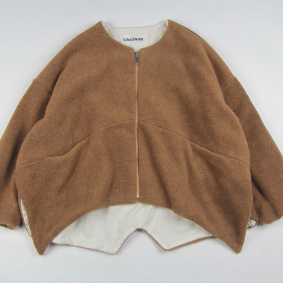 【 UNIONINI 2018AW 】 CO-013 fleece jacket / brown / 10-12Y