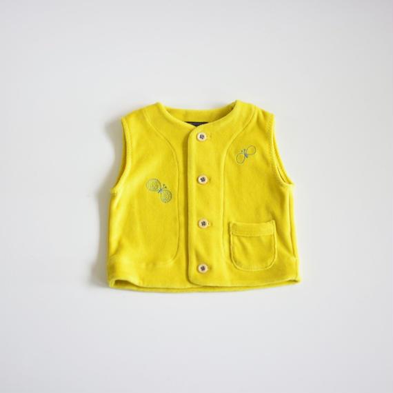 """【 ミナペルホネン 18AW 】WA8937P choucho """"ベスト"""" / yellow / 80cm"""
