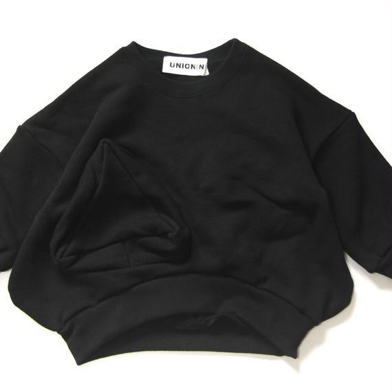 【 UNIONINI 2018AW 】 TR-020 ◯△sweat shirt  / black / Women M