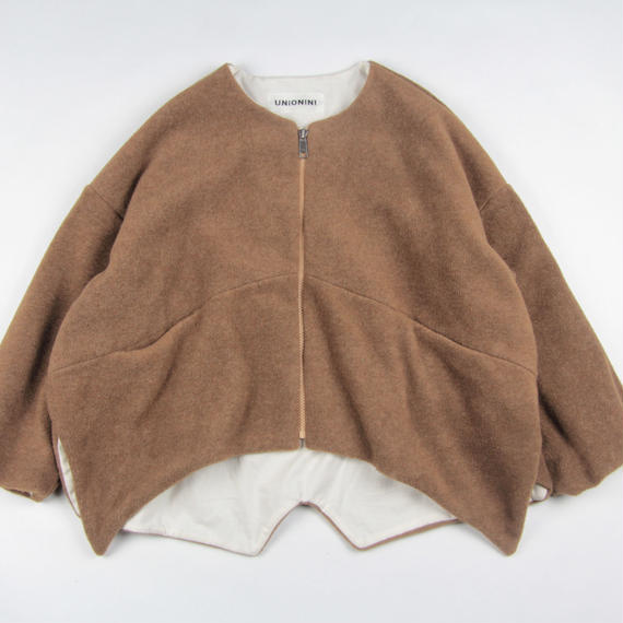 【 UNIONINI 2018AW 】 CO-013 fleece jacket  / brown / Women M