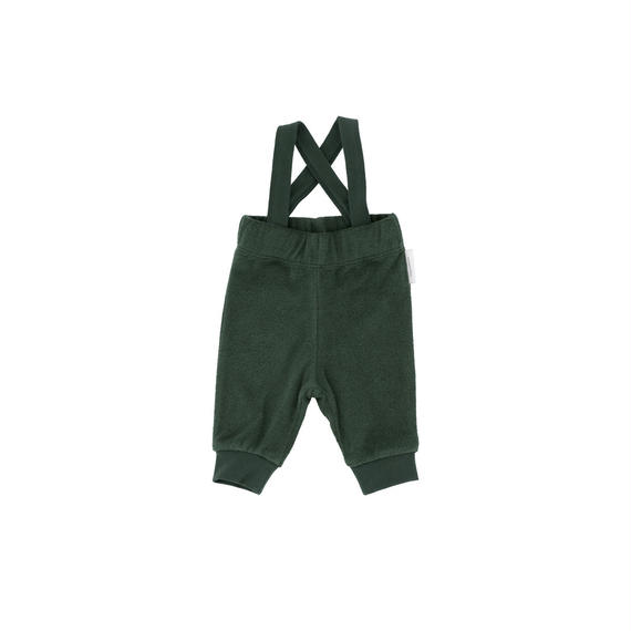 【 tiny cottons 2018AW 】 AW18-098 solid towel braces pant / dark green